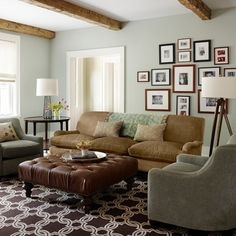 Gray And Brown Living Room Design Ideas, Pictures, Remodel, and Decor - page 11