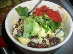 Yumm sauce recipe (copy cat of Café Yumm's) to make Yumm bowls with! rice, black beans, cheddar, this sauce, salsa, sour cream, fresh avocado, tomato, and cilantro. One of my favorites