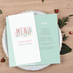 Menu de mariage Eden by Petite Alma pour www.fairepart.fr #rosemood #atelierrosemood #wedding #weddingtable