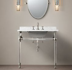 "Hoping we have space for this one!! 24"" Gramercy Single Glass Washstand with Backsplash"