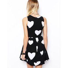 Heart Set on Black Dress