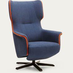Relaxstoel Mood blauw schuinaanzicht
