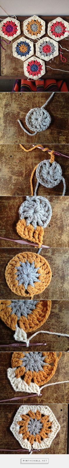 "#Crochet_Tutorial - How To Crochet A Hexagon In Ten Minutes! ""Splendid tutorial with many more pictures and clear text!"" Enjoy from #KnittingGuru ** http://www.pinterest.com/KnittingGuru"