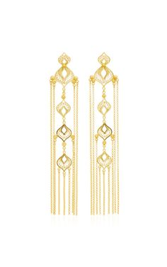 Shop Elena Sterling Silver and Gold Vermeil Earrings. Mallarino's earrings are crafted from gleaming sterling silver and gold vermeil. Indian Jewelry Earrings, Filigree Jewelry, Women's Earrings, Sterling Silver Jewelry, Gold Jewelry, Jewelery, Fringe Earrings, Antique Jewellery Designs, Antique Jewelry