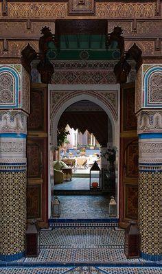 More intricate Moroccan architecture.