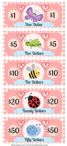 Free Printable Play Money Kids Will Love | Fake Monopoly Bills & Coins