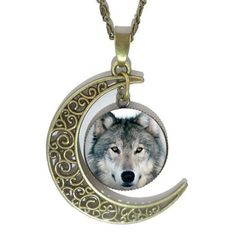 Item Description : - Pendant Size: 20*40 mm (0.78*1.57 inch) - Material: Glass - Chain Type: Snake Chain - Length: 45 cm (18 inch) - Shape\pattern: Moon Metals Type: Alloy Shipping & Handling This ite