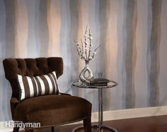 Shimmery Stripes with Modern Masters Metallic Paint | The Family Handyman
