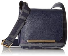 Tommy Hilfiger Sienna Small Plaid Saddle Bag, Navy/Forest Gray ** Click image to review more details.