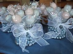 Cute Centerpiece Idea That Doubles As Communion Party Favors By The Cakepop Lady May 2017