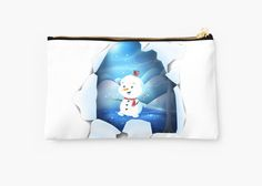 Tear It! ~ Snowbaby Line Studio designed by We~Ivy. Presents For Friends, Makeup Pouch, Line S, My Themes, Website Themes, Good Cause, School Bags, Zipper Pouch, Pouches