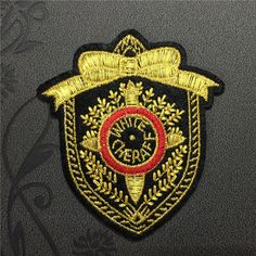Golden Ribbon badge Patches iron on patches