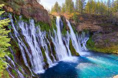 Burney Falls - Read about our Weekend in Redding California: Combining Romance, Local Culture, & Outdoor Adventures