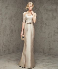 Illusion Floor Length Gold Satin Trumpet Mermaid Mother Of The Bride Dress B2pr0007