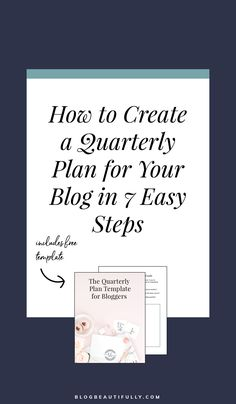 You've set big goals for your blog, but are you actually achieving them? It's time to get laser-focused and start accomplishing big things for your blog. Click through to learn how to create a quarterly plan for your blog, why you need one, and download a free template to get you started. planning tips   productivity   systems   organization   #bloggingtips #blogging101 #productivity