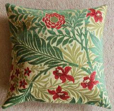william morris fabric larkspur cushion cover