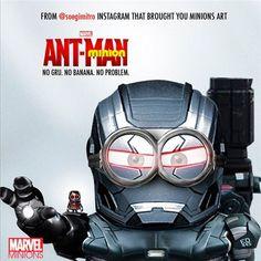 Antman Minion and War Machine Minion Minion Art, Minions Love, Minion Dress Up, Marvel Dc, Marvel Comics, Lego, Star Wars, War Machine, Avengers