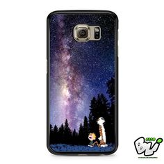 Calvin And Hobbes Star Night Nebula Samsung Galaxy S7 Case