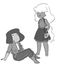 O. M. G. This is soooo cute like ... Sapphire's pulled back but not all that way up and ruby like soooooo cute but you can see it she's like .... Sup