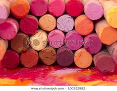 Ook deze afbeelding is als schilderij te bestellen bij Magneetschilderij.nl - red dried pastels 100352882
