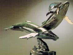 Randy Puckett Bronze Sculpture - Homecoming  --  on ScrimshawGallery.com