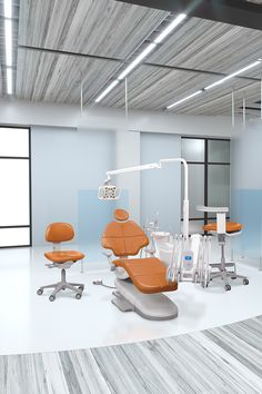 A-dec 500 dental chair and delivery system in bright dental operatory.