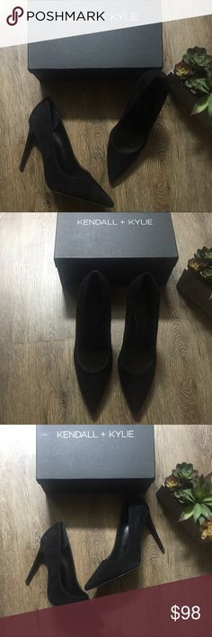 """NEW Kendall + Kylie Clara Black Suede Pumps Sz 8.5 Brand new w/ box! GORGEOUS Black Suede Pump/Heels from Kendall + Kylie! Pointed toe. Suede construction. Matte stiletto heel. Approx. 4.25"""" heel. Suede. 😍 Size 8.5. Reasonable offers are accepted :) Kendall & Kylie Shoes Heels"""