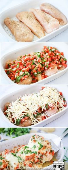 This Salsa Fresca Chicken is packed full of bold Tex-Mex flavors but still a light and wholesome dish. It is smothered in fresh tomatoes, cilantro, sweet onion, and of course Monterey Jack cheese. It comes together easily for a quick weeknight meal and since it is made in one dish it can be cleaned up easily as well