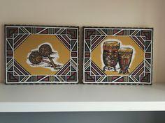 Cuadros fabricados con nuestras telas africanas. Más modelos en web!!   #decor #decoracion #cuadros #interiores #home #casa #decohome #homedeco Models, Home, African Fabric, African, Fabrics, Interiors