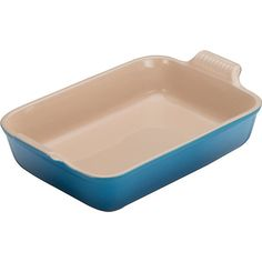 Le Creuset Stoneware rectangular deep dish 32cm ($36) ❤ liked on Polyvore featuring home, kitchen & dining, le creuset, le creuset cookware, le creuset grill, non-stick cookware and le creuset stoneware
