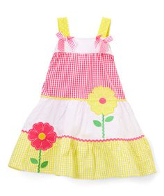 $9.99 Look at this #zulilyfind! Yellow Floral Shift Dress - Infant, Toddler & Girls #zulilyfinds