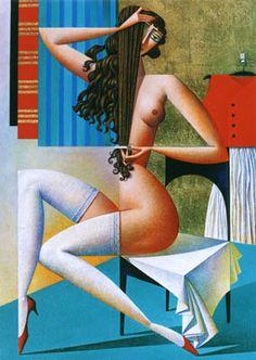 Artist Georgy Kurasov, the painter, the sculptor Silk Painting, Figure Painting, Painting & Drawing, Woman Painting, Illustrations, Illustration Art, Cubist Artists, Ecole Art, Russian Art