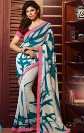 Picture of Marvelous Off White Printed Saree