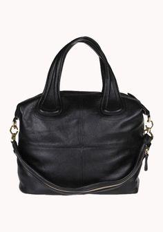 Giovanna Large Calf Leather Bag Black