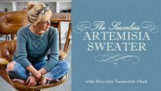 The Seamless Artemisia Sweater: Knitting From The Top Down - Known for cute, feminine and fashionable sweaters, knitwear designer Mercedes Tarasovich-Clark brings a brand-new design to her Craftsy online class. Sweater Knitting Patterns, Knitting Stitches, Knitting Sweaters, Women's Sweaters, Cardigans, Icelandic Sweaters, Knitting Magazine, Knit In The Round, Knitted Bags