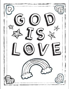 God is Love coloring sheet