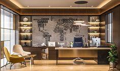 TRAVEL_OFFICE on Behance Office Cabin Design, Modern Office Design, Contemporary Office, Corporate Interior Design, Corporate Interiors, Office Interiors, Luxury Office, Ceo Office, Deco London