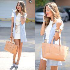 Get this look: http://lb.nu/look/7746872  More looks by Helena Cueva: http://lb.nu/miaventuraconlamoda  Items in this look:  Fashion Pills Waistcoat, Zara Dress, Zara Sandals, Gloria Ortiz Handbag   #casual #chic #elegant