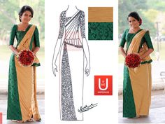 Bride's mates dress - U & Me Weddings. Kandyan saree design