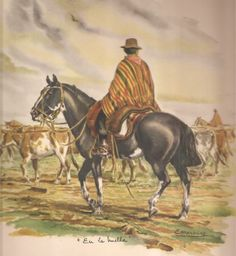 Western Chic, Western Art, South American Art, Cowboy Art, Rio Grande Do Sul, Horse Art, Drawing People, Animals And Pets, Illustration Art
