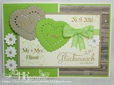 "Karins Kreativstube: Hochzeit ""Lydia & Herbert"" hellgrün/saharasand Blog, Place Cards, Place Card Holders, Frame, Home Decor, Cards, Creative, Wedding, Picture Frame"