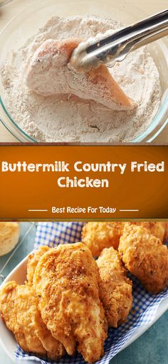 and Drink dinner Buttermilk Country Fried Chicken Country Fried Chicken, Fried Chicken Recipes, Meat Recipes, Chicken Fried Chicken, Easy Boneless Fried Chicken Recipe, Fried Chicken With Buttermilk, Fried Chicken Thighs Boneless, Snacks, Healthy Recipes