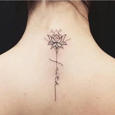 ideas tattoo neck symbol tattoo is part of Sunflower tattoos Small Heart - Sunflower tattoos Small Heart Text Tattoo, Lotusblume Tattoo, Nape Tattoo, Unalome Tattoo, Spine Tattoos, Tattoo Hals, Tattoo Fonts, Sleeve Tattoos, Tattoo Neck