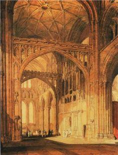 Interior of Salisbury Cathedral - William Turner-1802