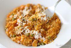 Risoto da Roça ~ Parece bem fácil e quentinha.<3<3<3 PANELATERAPIA - Blog de Culinária, Gastronomia e Receitas