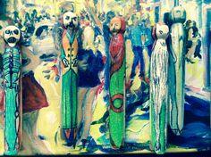 Recent pegs. Painting, Art, Craft Art, Painting Art, Kunst, Paintings, Paint, Art Journaling, Drawings