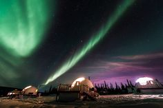 Enjoy a unique stay at Borealis Basecamp in Alaska in a private dome providing excellent Northern Lights viewing, dog sledding, and snowmobiling tours. Northern Lights Viewing, Alaska Northern Lights, Northern Lights Tours, Vacation Places, Vacation Trips, Vacation Spots, Vacations, Vacation Ideas, Vacation Travel