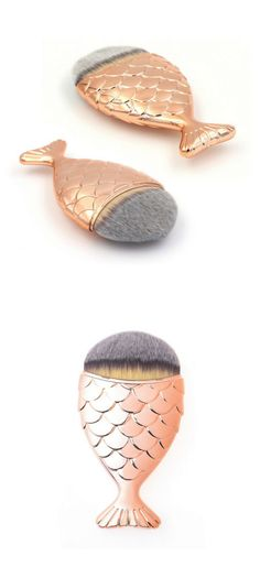 Mermaid Makeup Brush Fishtail Rose Gold