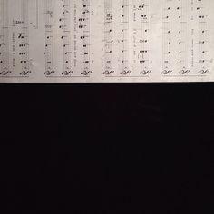 楽譜の文字盤