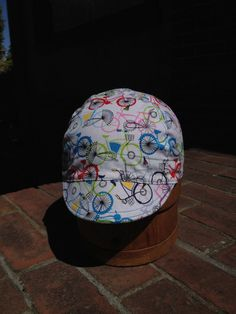 Bike city bikes for everyone handmade cycling cap  by alloneword